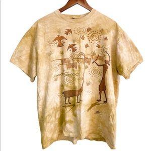 Vintage The Mountain Tribal Print Tie Dye Tshirt